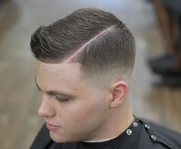 Mid taper fade with part 1