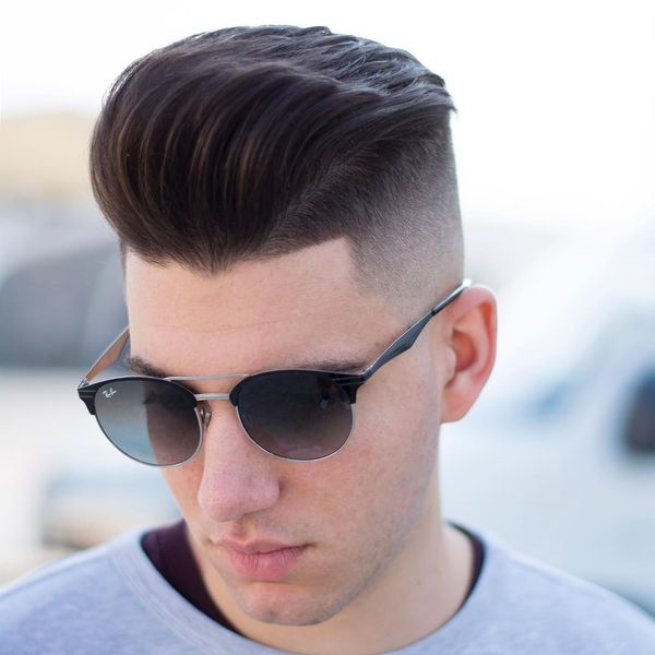 Pompadour Fade Haircut Variations for Guys 3