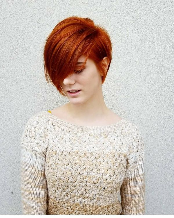 36 Cool Short Red Hairstyles And Haircuts December 2020