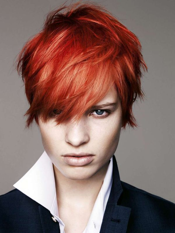 Sexy Short Red Hairstyles For Red Headed Women 2