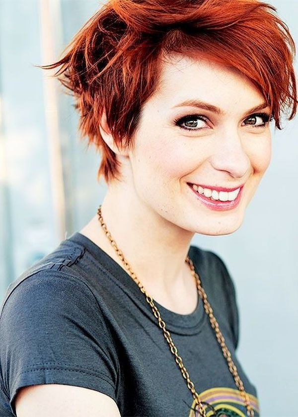 Sexy Short Red Hairstyles For Red Headed Women 4