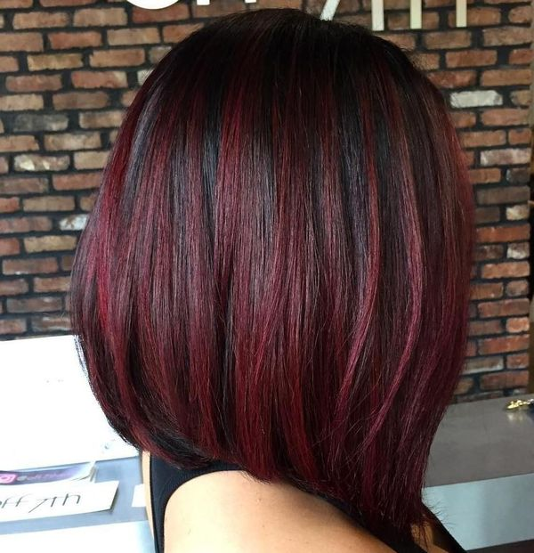Short Burgundy Hair Ideas 3