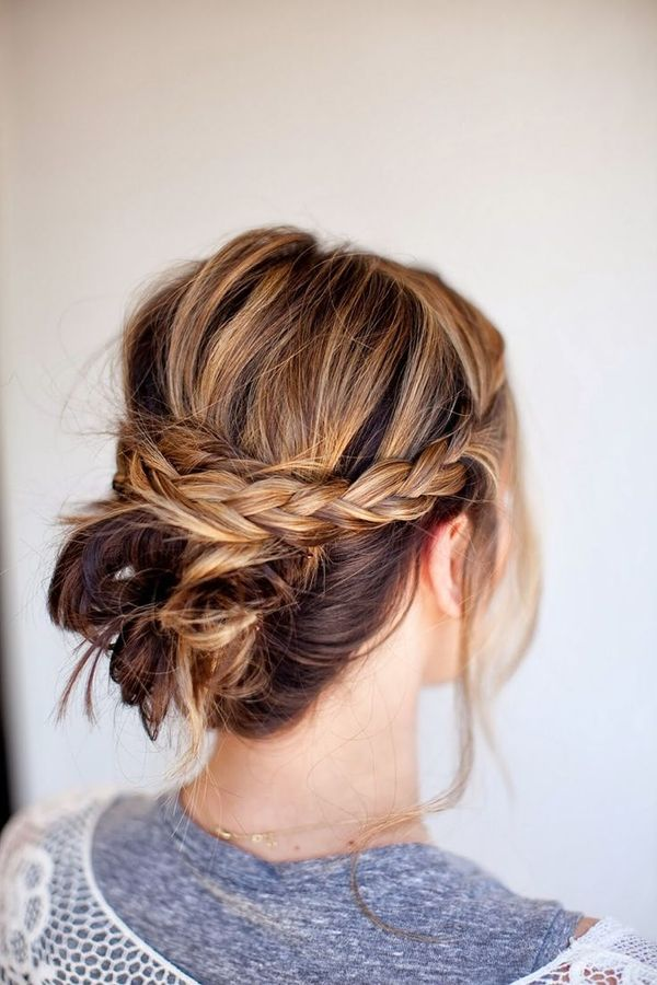 Simple Updos With Braids For Collarbone Length Hair 3