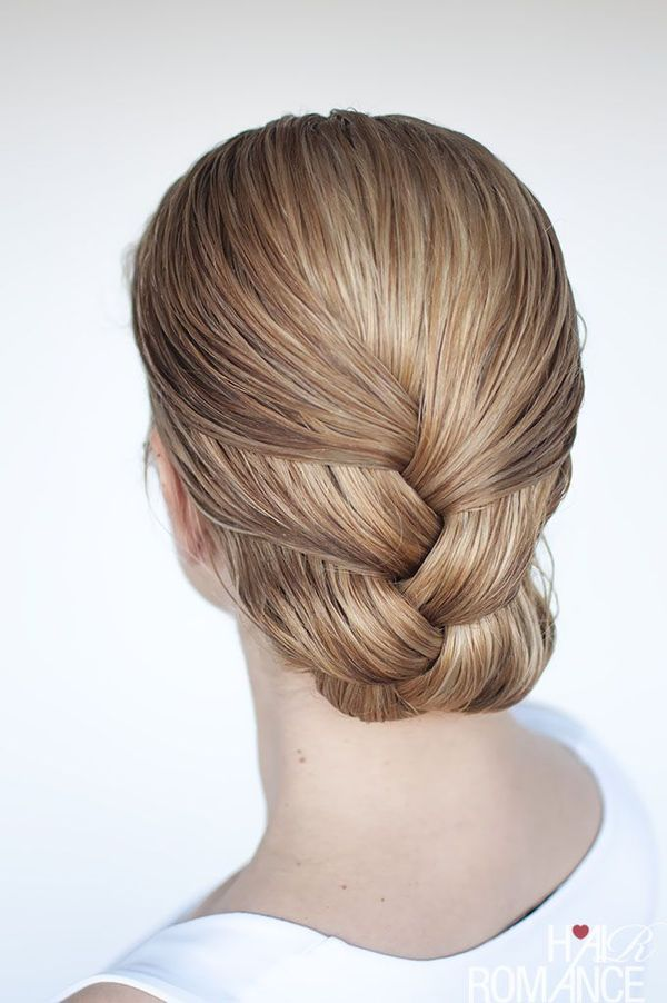 Simple Updos With Braids For Collarbone Length Hair 4