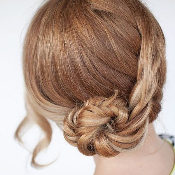 Simple Updos With Braids For Collarbone Length Hair 5