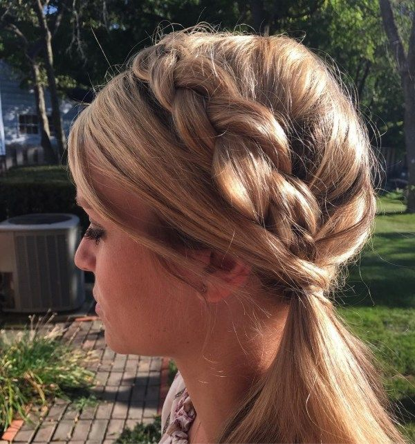 Simple braided hairstyles for long hair 2