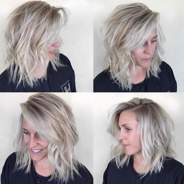 Stylish Long Layered Bobs With Side Swept Bangs 5