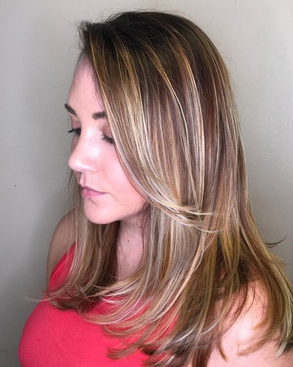 Stylish Long Layered Bobs With Side Swept Bangs 6