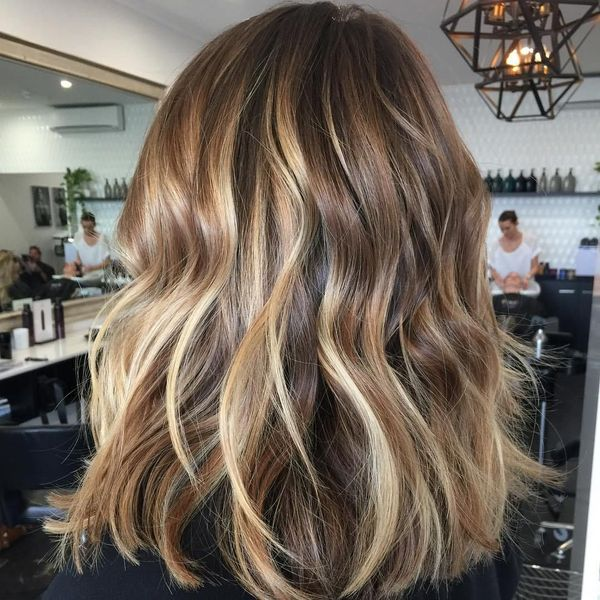 Stylish ideas for brown hair with blonde highlights 1