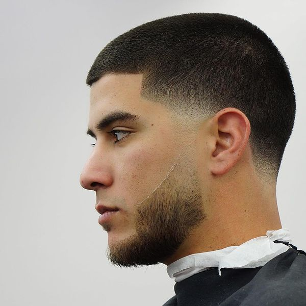 Taper fade line up hairstyle 3