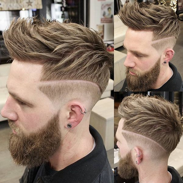 The best ideas for shaved part in hair 1