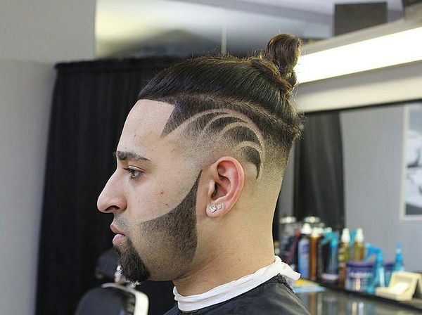 Trendy Top Knot Fade Haircut for Men 3