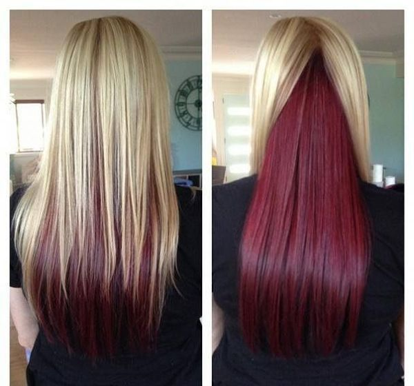 Do You Know That Long Hair Looks Great with Red Underneath 1