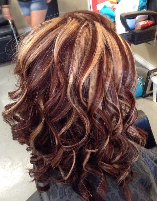 Great Blonde Hair Cuts With Red Highlights 1