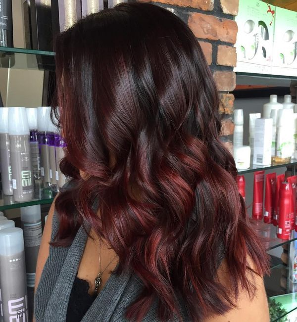 Perfect Cuts For Brunette With Dark Red Highlights 1