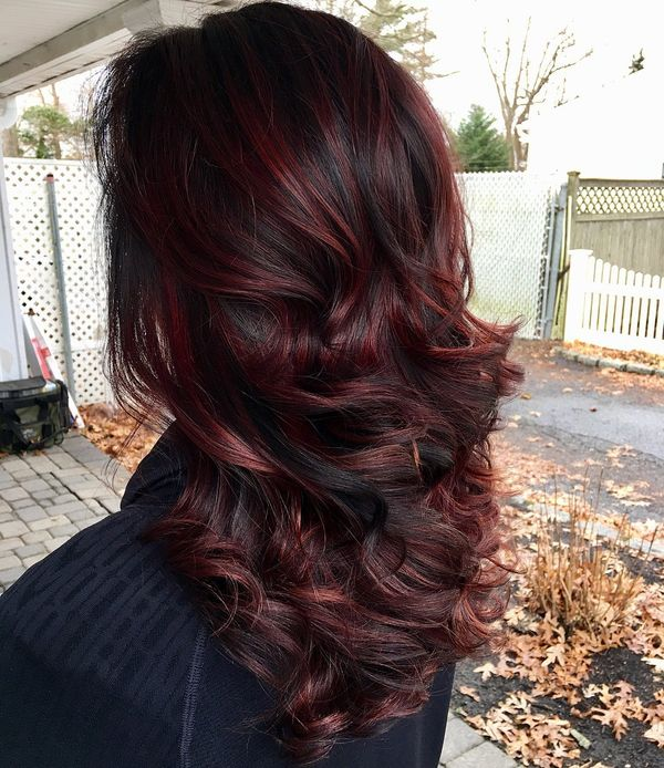 Perfect Cuts For Brunette With Dark Red Highlights 2
