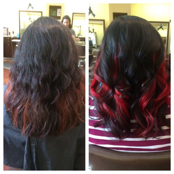 What About Awesome Reddish Highlights For Your Dark Hair 3