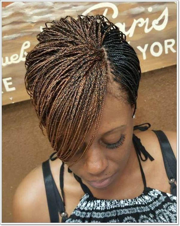 Short micro braids styles to try 1