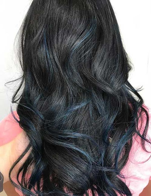 Hairstyles with slightly bluish black hair color 1