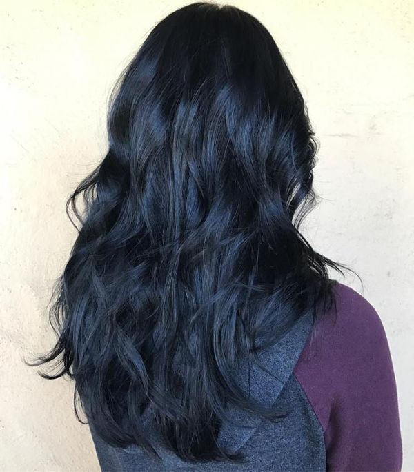 Awesome black and blue hair styles 1
