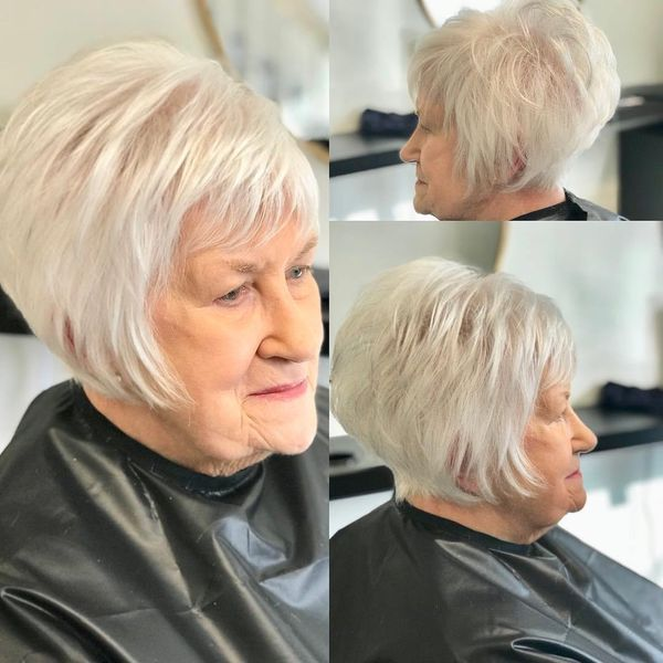 Popular Hairstyles for Women over 70 and 80 1