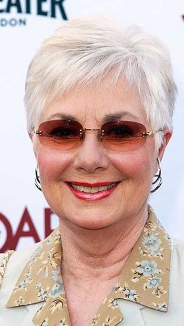 Trendy Female Hairstyles for Ladies over 70 with Glasses 1