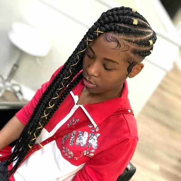 Cool Ideas for Little Kids Braids with Weave 3