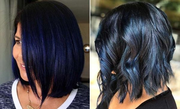 Awesome black and blue hair styles 3