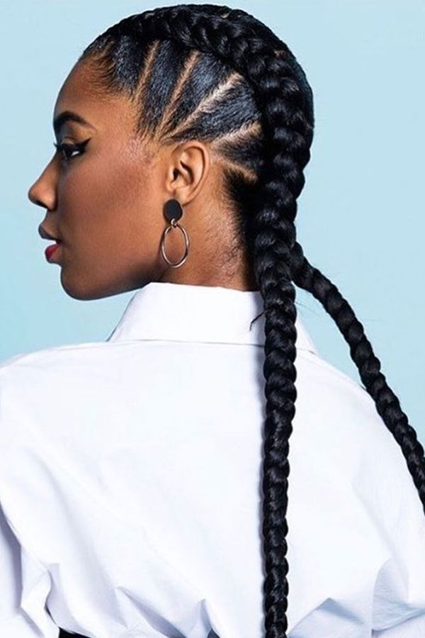 Female Cornrows Hairstyles for Women with Natural Hair 2
