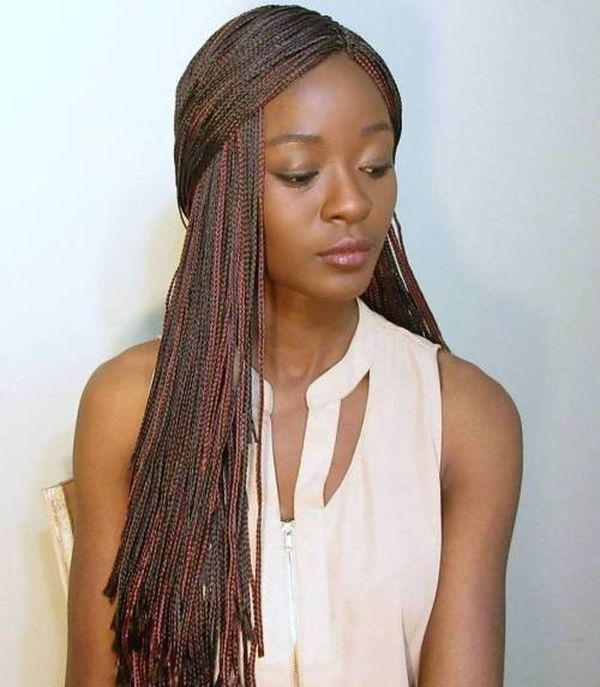 Awesome long micro braids hairstyles 1