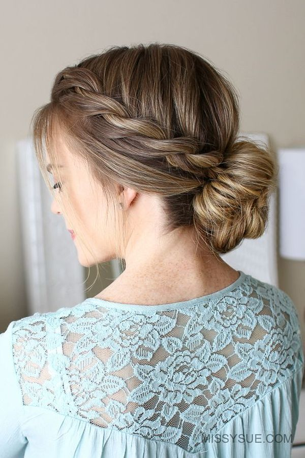 The Best Low Updo for Long Hair 4