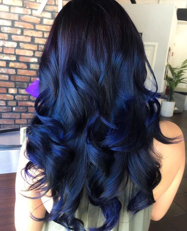 Awesome black and blue hair styles 4