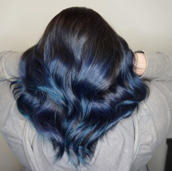 Awesome black and blue hair styles 5