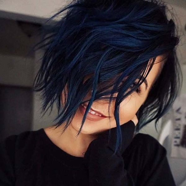 Black blue hair color ideas 4