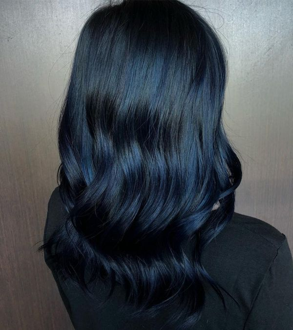 Awesome black and blue hair styles 2