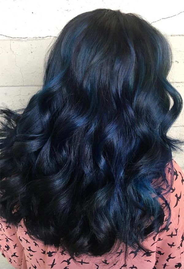How to get blue black hair? 4
