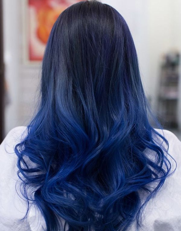 Cool ideas of black to blue hair 3