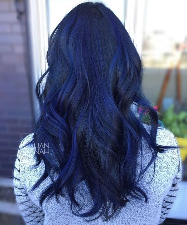 Black blue hair color ideas 3