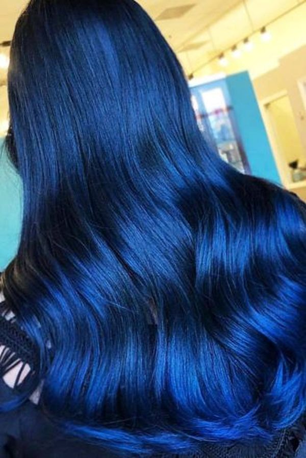 How to get blue black hair? 5