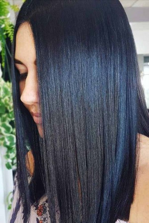 Black blue hair color ideas 1