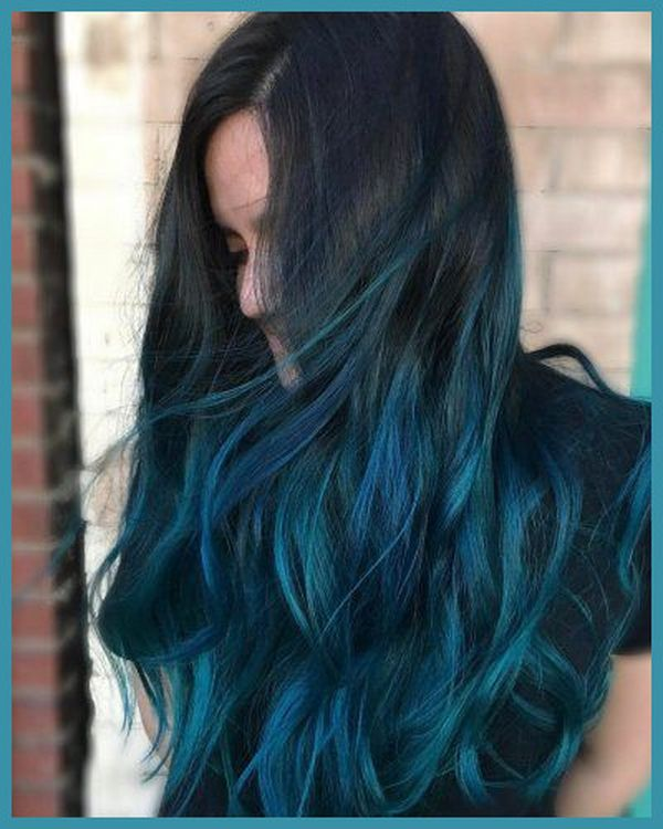 Cool ideas of black to blue hair 4