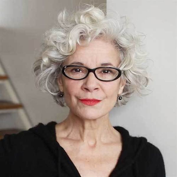 Trendy Female Hairstyles for Ladies over 70 with Glasses 4