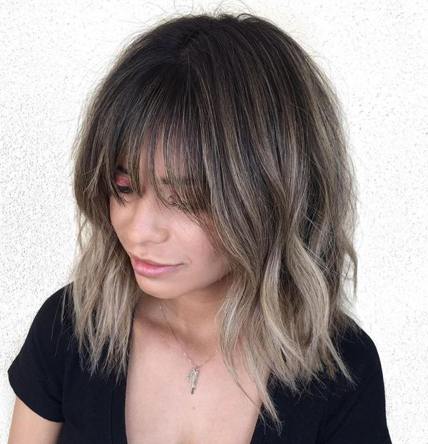 What about a lob haircut with bangs 2