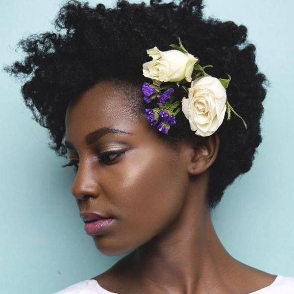 Amazing Wedding Hairstyles for Natural Black Hair 3