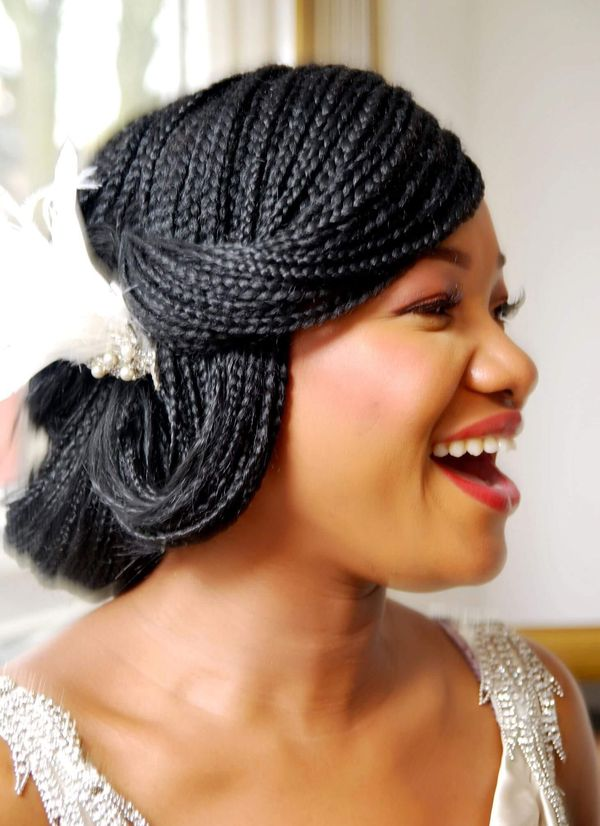 Stunning Black Wedding Hairstyles with Braids to Copy 2