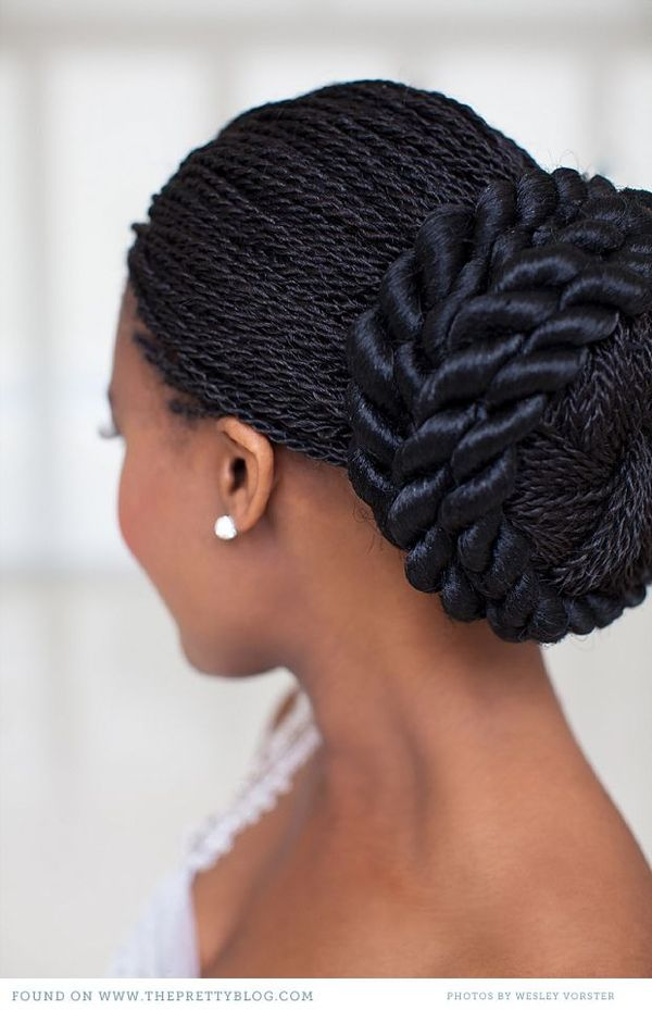 Stunning Black Wedding Hairstyles with Braids to Copy 3