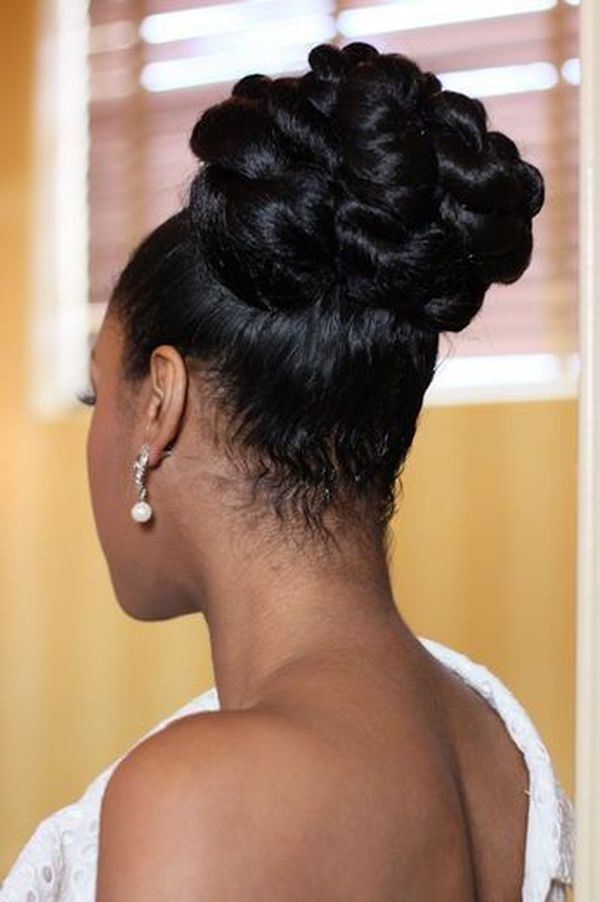 Top Wedding Updo Black Hairstyles to Try 2