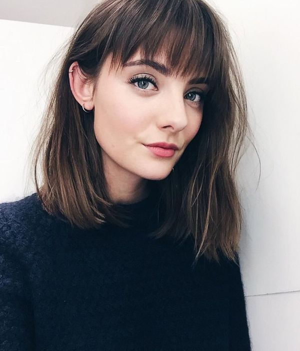 What about a lob haircut with bangs 1