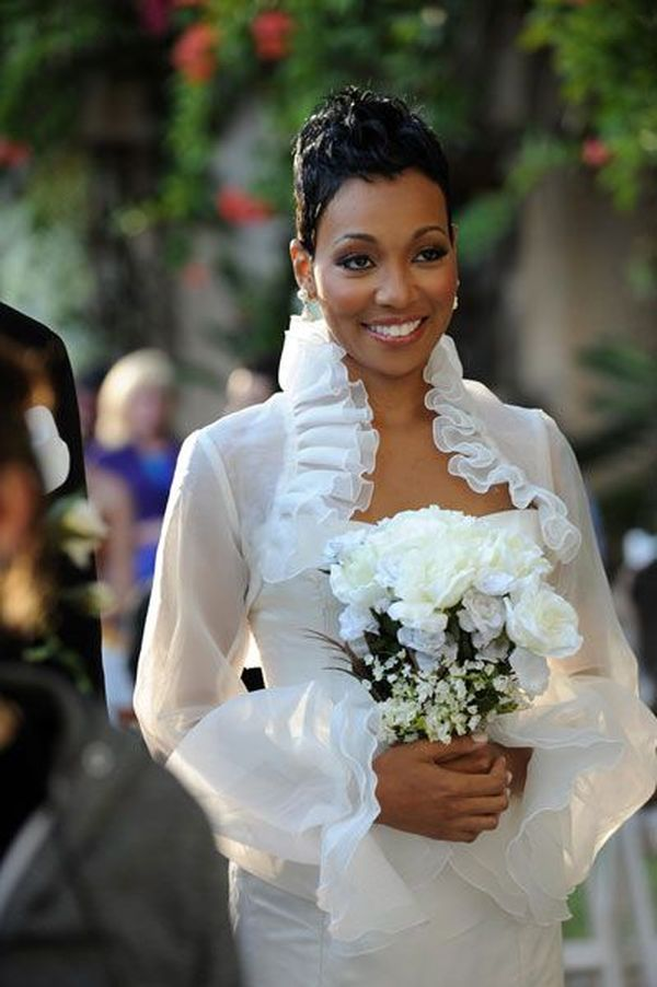 Wedding Hairstyles for African American Women with Short Hair 1