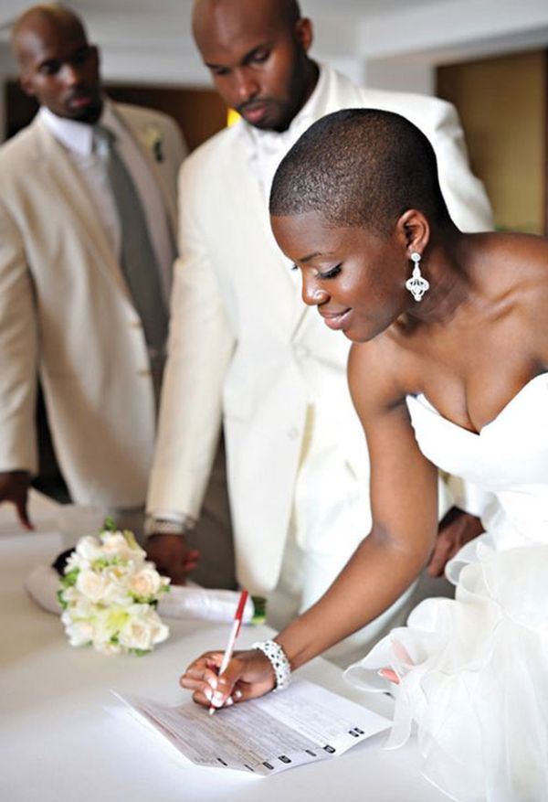 Wedding Hairstyles for African American Women with Short Hair 2
